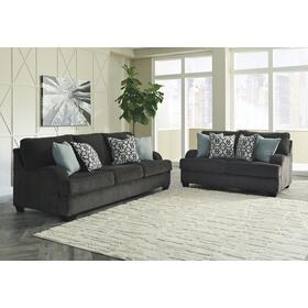 Charenton Sofa & Loveseat Charcoal