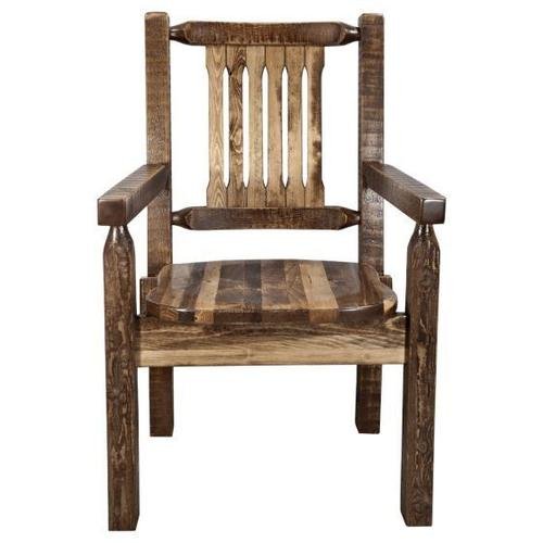 Montana Woodworks - Homestead Collection Captains Chair, Stain and Lacquer Finish