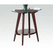 ACME Ardis End Table - 80522 - Espresso & Clear Glass