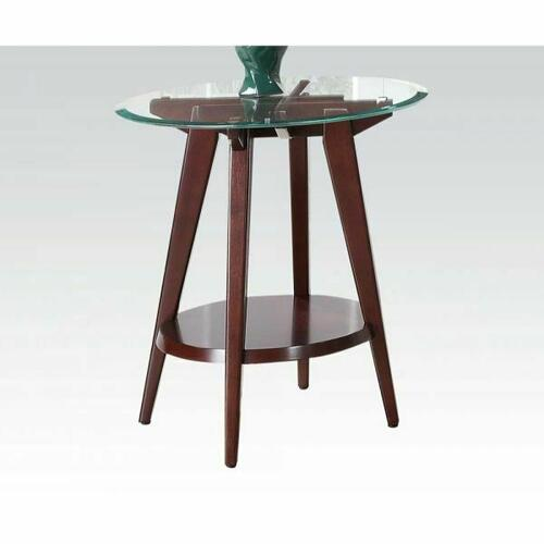 Acme Furniture Inc - ACME Ardis End Table - 80522 - Espresso & Clear Glass