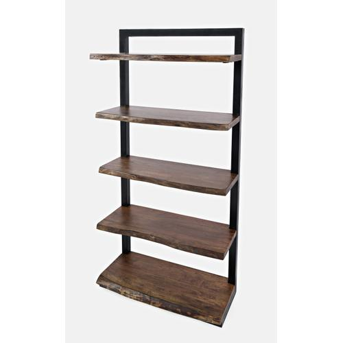 Nature's Edge L. Chestnut 5 Shelf Bookcase 35x14x71