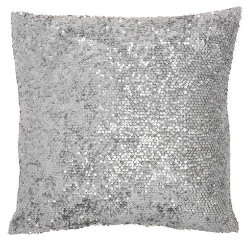 "Luminescence Vv058 Light Grey 18"" X 18"" Throw Pillow"