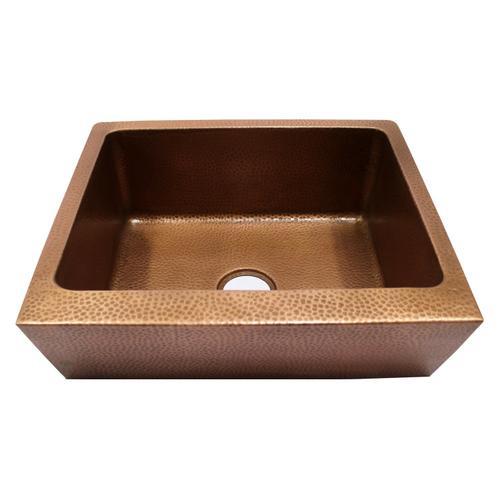 """Grecia Single Bowl Copper Farmer Sink - 25"""""""