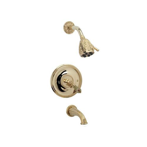 VERSAILLES Pressure Balance Tub and Shower Set PB2240 - Satin Gold with Satin Nickel