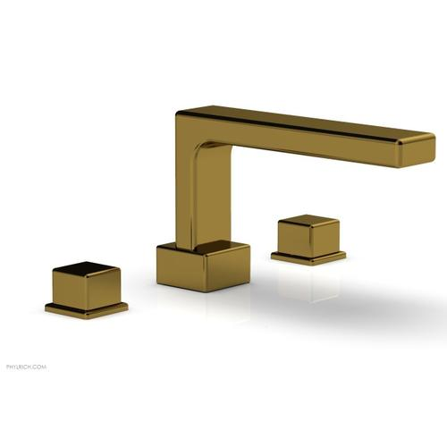 MIX Deck Tub Set - Cube Handles 290-43 - French Brass