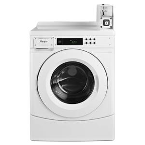 """WHIRLPOOL27"""" Commercial High-Efficiency Energy Star-Qualified Front-Load Washer Featuring Factory-Installed Coin Drop with Coin Box White"""