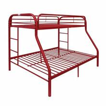 ACME Tritan Twin/Full Bunk Bed - 02053RD - Red
