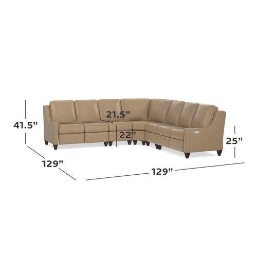 Magnificent Motion Reclining Leather L Sectional