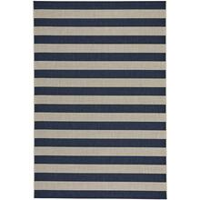 Finesse-Stripe Navy Machine Woven Rugs