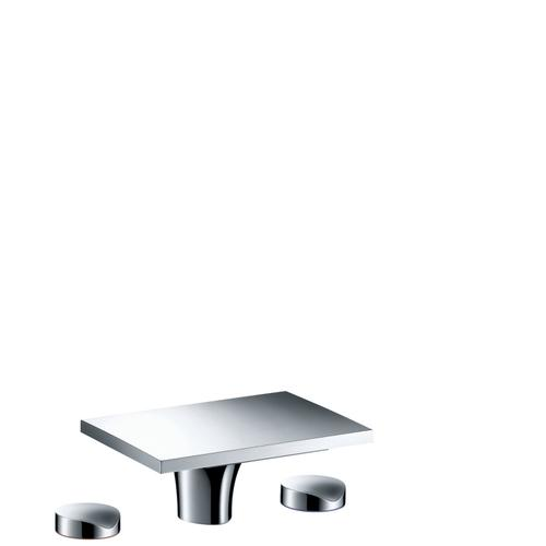 Stainless Steel Optic 3-hole basin mixer 80 with pop-up waste set