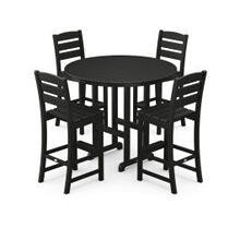 View Product - Lakeside 5-Piece Round Bar Side Chair Set in Black