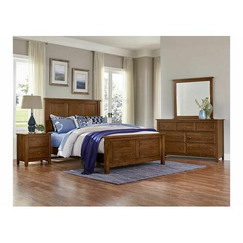 King Panel Bed with Panel Footboard
