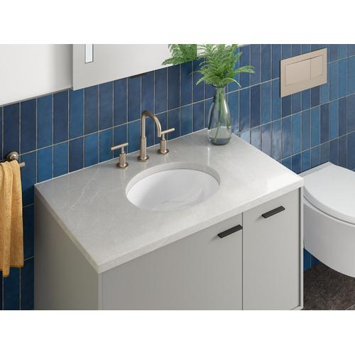 """White 15"""" X 12"""" Undermount Bathroom Sink"""