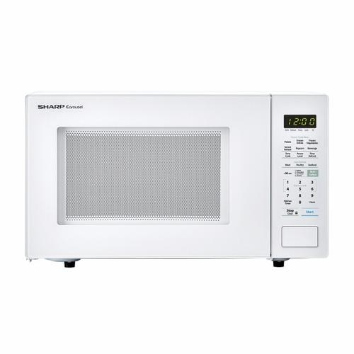 1.4 cu. ft. 1000W Sharp White Countertop Microwave Oven