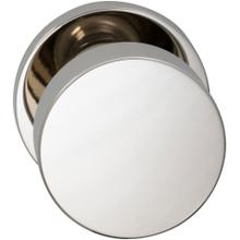 Interior Modern Knob Latchset with Modern Round Rose in (US14 Polished Nickel Plated, Lacquered)