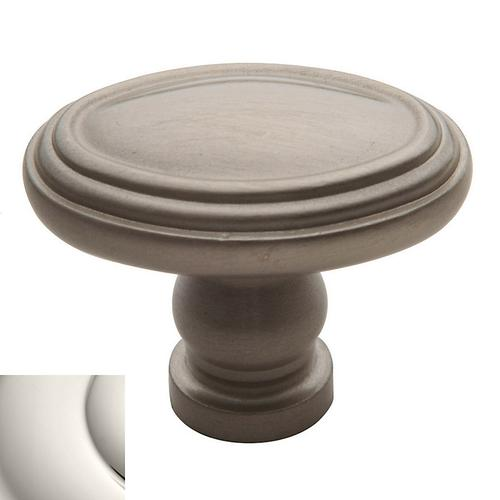 Polished Nickel Decorative Oval Knob