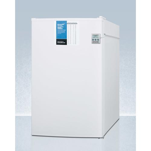 Counter Height Manual Defrost All-freezer With Side Lock, Nist Calibrated Thermometer, and 5 CU.FT. Capacity