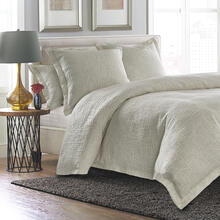 6pc King Duvet Set Natural