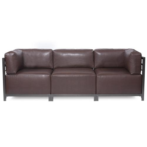 Axis 3pc Sectional Avanti Pecan Titanium Frame