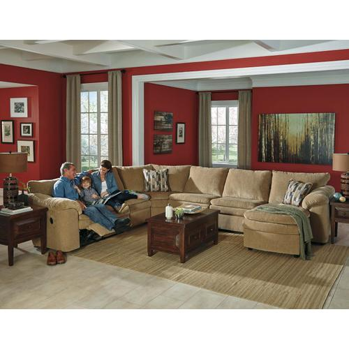 Coats 5-piece Reclining Sectional With Chaise and Sleeper