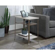 Wood & Metal Side Table with Open Shelves