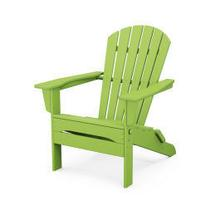 View Product - South Beach Folding Adirondack Chair in Lime