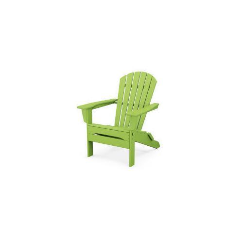 Polywood Furnishings - South Beach Folding Adirondack Chair in Lime