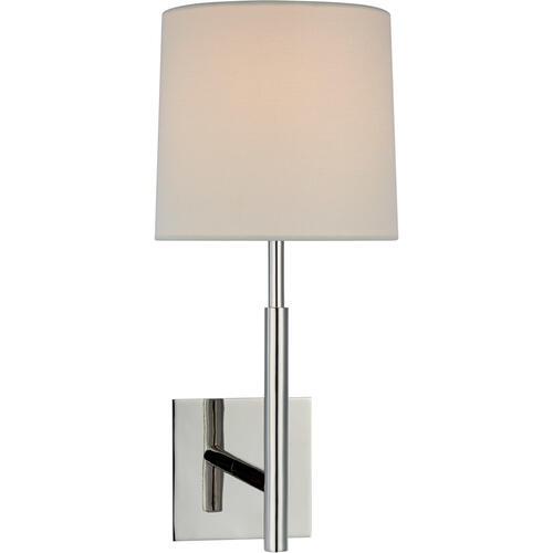 Barbara Barry Clarion LED 8 inch Polished Nickel Library Sconce Wall Light, Medium