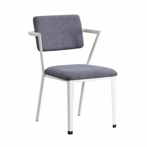 ACME Cargo Chair - 37888 - Gray Fabric & Red