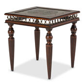 Crusade End Table W/decorative Apron