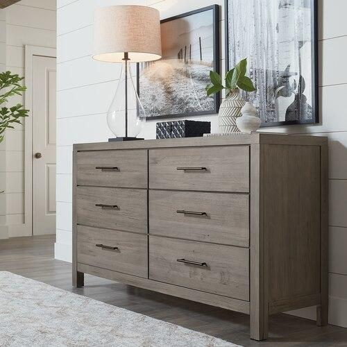 Midtown Maple 6 Drawer Dresser