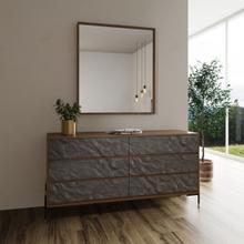 View Product - Nova Domus Metcalf - Mid-Century Walnut & Grey Dresser