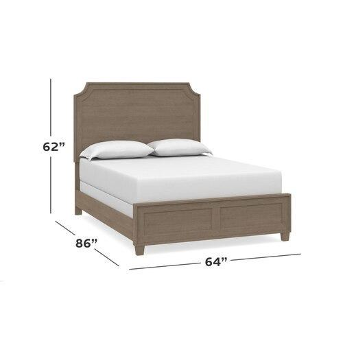 Ventura King Panel Bed, Footboard Low
