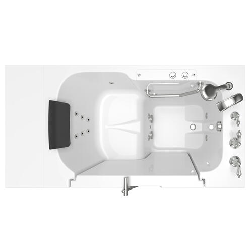 American Standard - Gelcoat Premium Series 32x52 Whirlpool Walk-in Tub with Outward Opening Door, Right Drain  American Standard - White