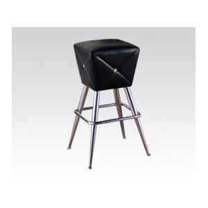 Acme Furniture Inc - Bk/chrome Bar Stool