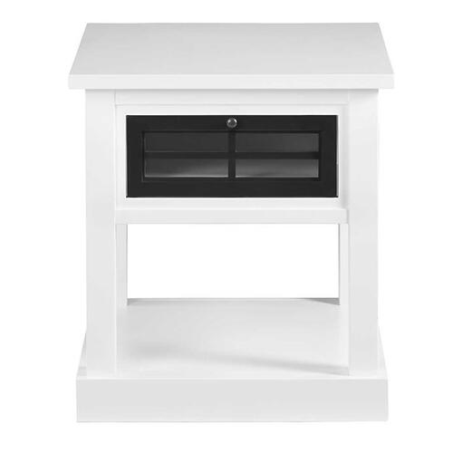 End Table - Snow/Black Finish