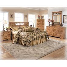Queen Panel Headboard, Chest, and Nightstand