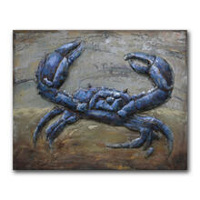 Blue Crab 30x40 Metal Wall Art