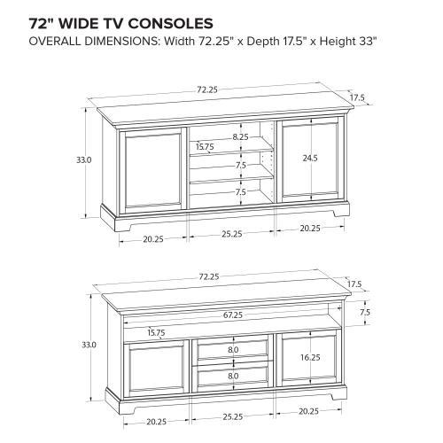 Howard Miller Custom TV Console TS72F