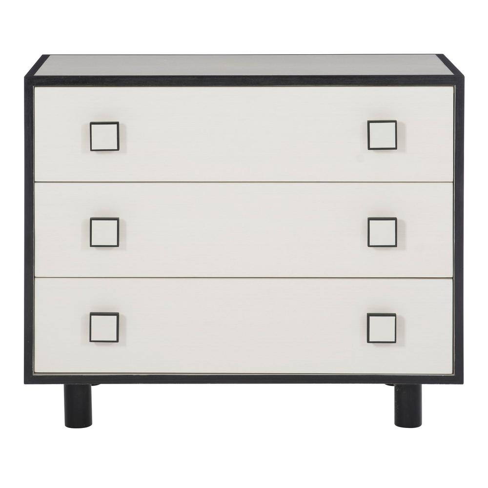 Silhouette Nightstand in Eggshell (307), Onyx (307)