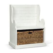 Hall Seat w/ Rattan Basket