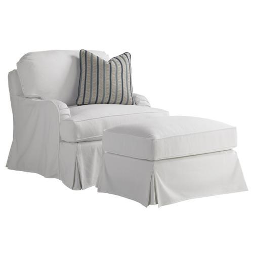 Lexington Furniture - Stowe Swivel Slipcover Chair - White