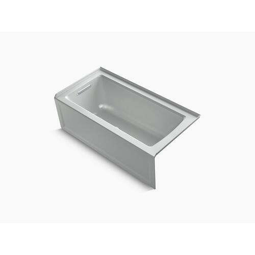 """Ice Grey 60"""" X 30"""" Alcove Bath With Integral Apron, Integral Flange and Left-hand Drain"""