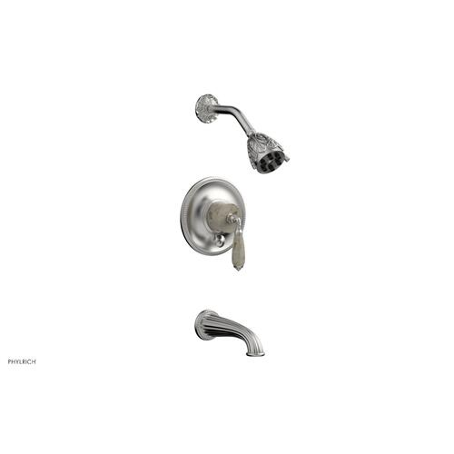 VALENCIA Pressure Balance Tub and Shower Set PB2338D - Satin Chrome