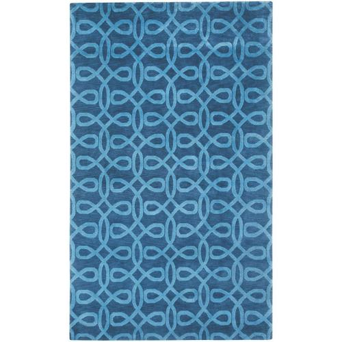 Lyrical Indigo Blue - Rectangle - 5' x 8'