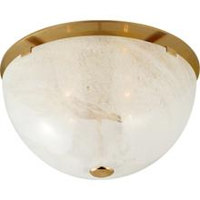AERIN Serein 3 Light 14 inch Hand-Rubbed Antique Brass Flush Mount Ceiling Light, Medium