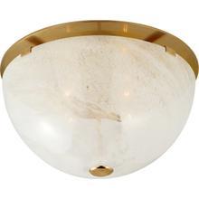 See Details - AERIN Serein 3 Light 14 inch Hand-Rubbed Antique Brass Flush Mount Ceiling Light, Medium