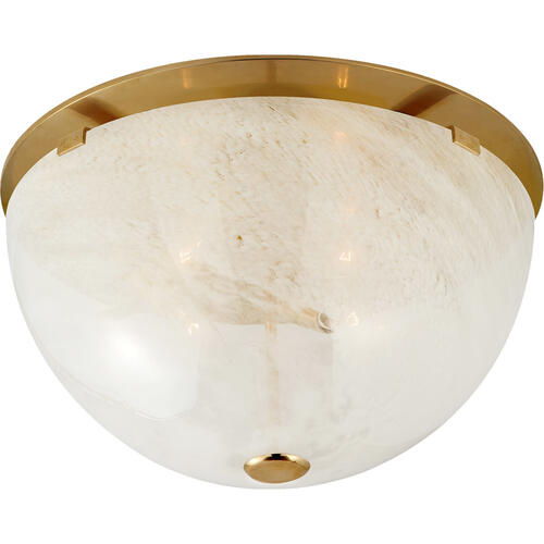 AERIN Serein 3 Light 14 inch Hand-Rubbed Antique Brass Flush Mount Ceiling Light, Medium