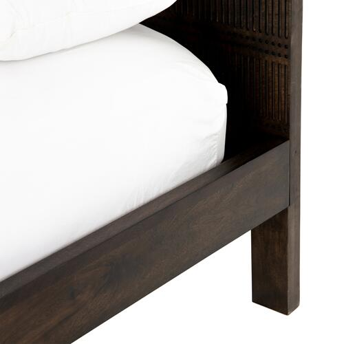 Four Hands - Kelby Wood Bed-carved Vintage Brwn-queen