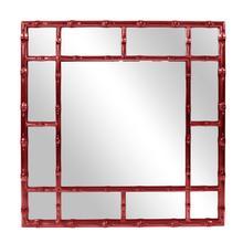 Bamboo Mirror - Glossy Burgundy